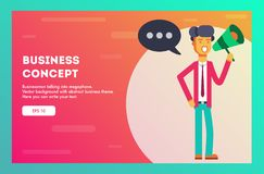 Businessman concept. Vector illustration. stock illustration