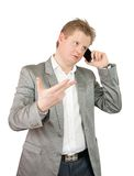 Businessman  speaking by mobile Stock Photography