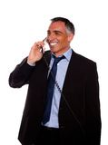 Businessman speaking on phone Royalty Free Stock Photos