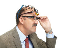 The businessman and spectacles Royalty Free Stock Photo