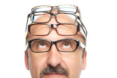 The businessman and spectacles Stock Photo