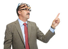 The businessman and spectacles Royalty Free Stock Photography