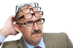 The businessman and spectacles Royalty Free Stock Images
