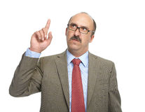 The businessman in spectacles Royalty Free Stock Photography