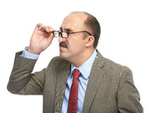 The businessman in spectacles Royalty Free Stock Photo