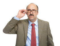 The businessman in spectacles Royalty Free Stock Image