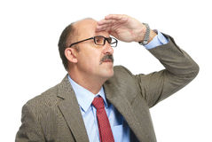 The businessman in spectacles Stock Photo