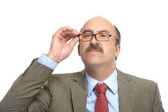 The businessman in spectacles Royalty Free Stock Photos