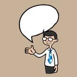 Businessman speech balloon Royalty Free Stock Photo