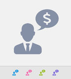 Businessman & Speech Bubble - Granite Icons Stock Photography
