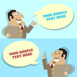 Businessman speech bubble with place for message Stock Image