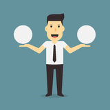 Businessman with speech bubbles Stock Photography