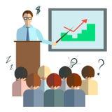 Businessman speech infographics Stock Image