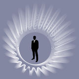 Businessman with spin gear Stock Image