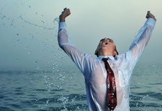 Businessman splashing Stock Image
