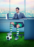 Businessman in sportwear Stock Photos