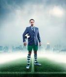 Businessman in sportwear Stock Images