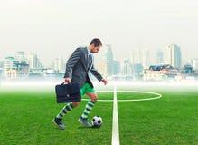 Businessman in sportwear Royalty Free Stock Image