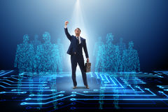 The businessman in the spotlight in business concept royalty free stock photo