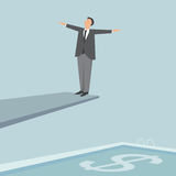 Businessman on a springboard. Stock Image