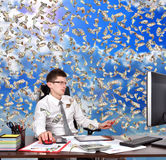 Businessman ssitting in office Stock Image