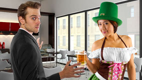 Businessman on St Patrick's Day Stock Photos