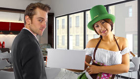 Businessman on St Patrick's Day Stock Photography