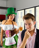 Businessman on St Patrick's Day Stock Images