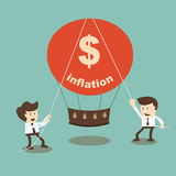 Businessman stabilize inflation Royalty Free Stock Images