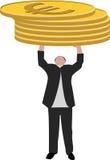 Businessman stack money. A businessman stack money, holding money Royalty Free Stock Photography