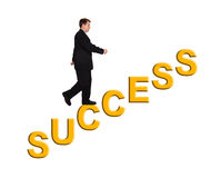 Businessman and stairs Success Stock Images