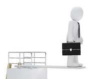 Businessman stand on board Royalty Free Stock Photo