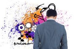 Businessman standing Stock Image