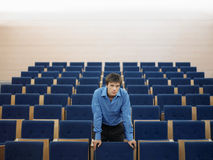 Businessman Standing In Auditorium Stock Photography