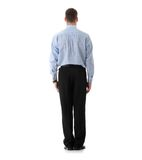 Businessman standing back stock photos