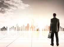 Businessman standing with back Royalty Free Stock Photo