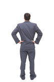 Businessman standing back to camera hands on hip Royalty Free Stock Image