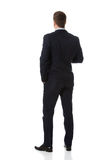 Businessman standing back to camera. Royalty Free Stock Photo