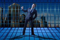 The businessman standing in business concept Stock Photography