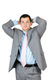 Businessman standing confidently Royalty Free Stock Photos