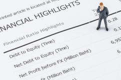 Businessman standing on the financial highlight in ann Royalty Free Stock Photos