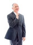Businessman standing with finger crossed for luck Royalty Free Stock Images