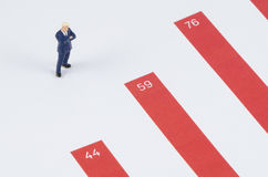 Businessman standing on the growth graph Royalty Free Stock Images
