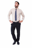 Businessman standing with hands on hips Stock Image