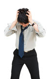 Businessman standing head down Stock Photo