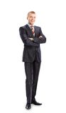 Businessman standing with his hands holding Royalty Free Stock Photo