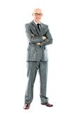 Businessman standing with his hands holding Stock Photography