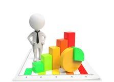 Businessman standing near the diagram Royalty Free Stock Photos