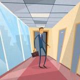 Businessman Standing Near Door  Stock Photo