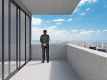 Businessman standing near office Royalty Free Stock Photo